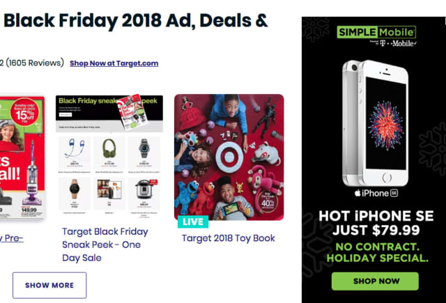 Black Friday online deals.