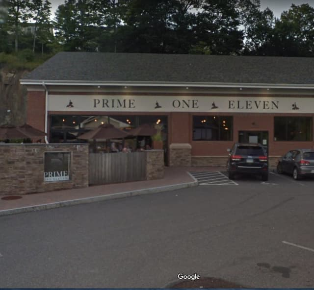 A man was hit in the face with a beer bottle while at a popular area restaurant.