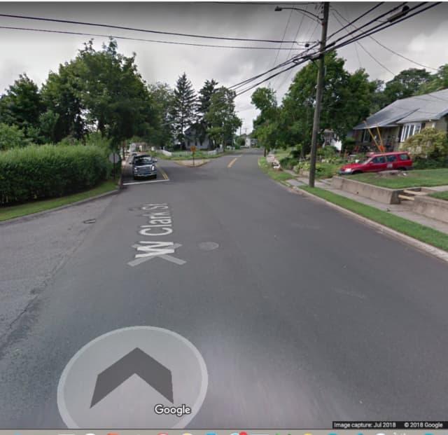 Clark Street near Power Street in Milford.