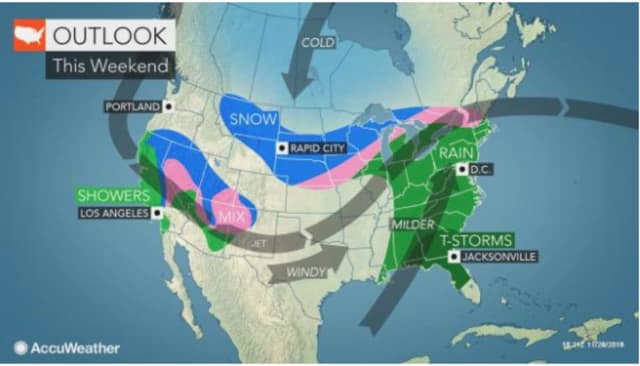 A look at the weekend storm system.