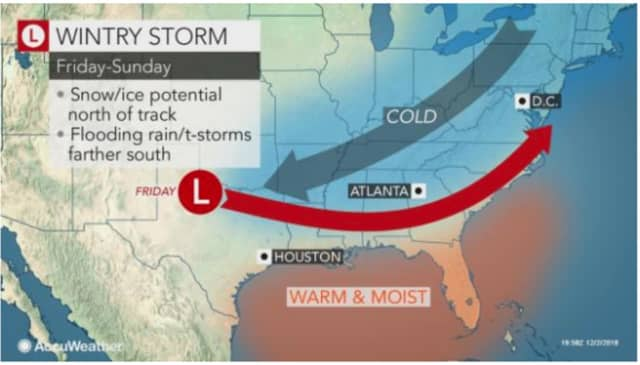 The storm has the potential to either track toward the Northeast or stay farther south.