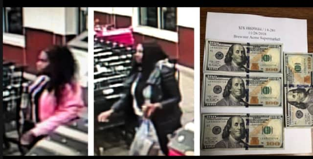 The suspects and the counterfeit bills.