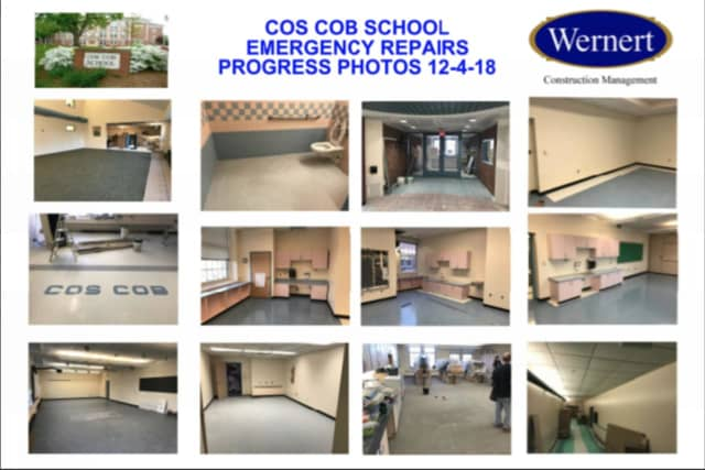 Progress made on the Cos Cob School reconstruction project
