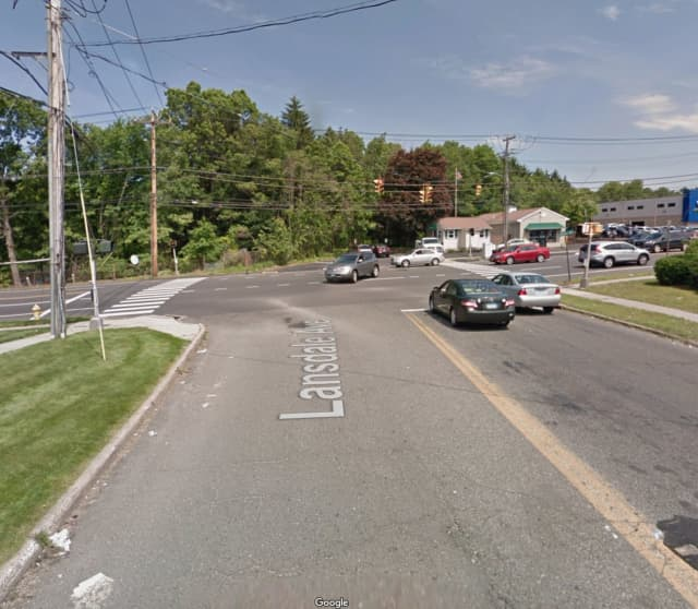 Lansdale Avenue at the intersection of Bridgeport Avenue in Milford.