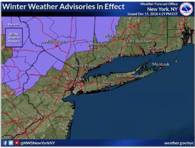 Freezing Rain On Way, National Weather Service Warns, With