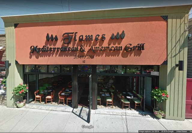 Flames Mediterranean Grill located at 12 Daniel St. in Milford.