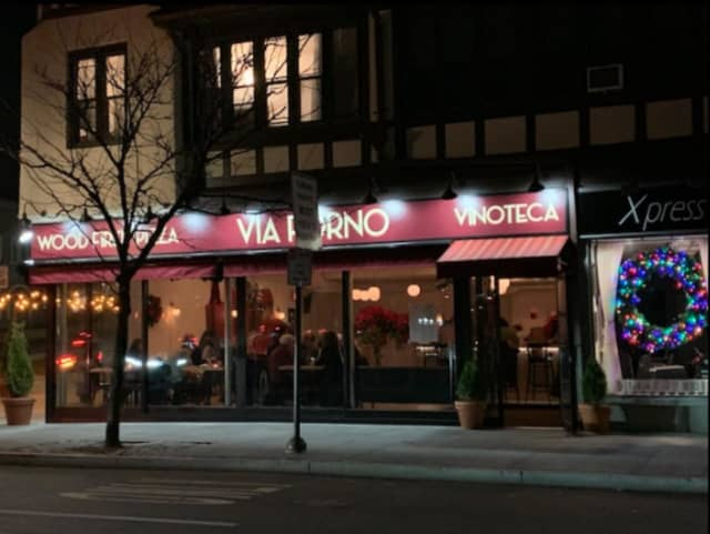 Via Forno Wood Fired Pizza and Vinoteca, located at 2 Garth Road in Scarsdale