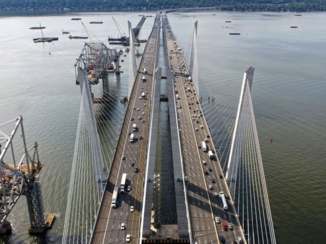 A date has been set for the use of explosives to bring down the old span of the Tappan Zee Bridge.