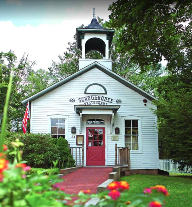 The Schoolhouse at Cannondale, located at 34 Cannon Road in Wilton