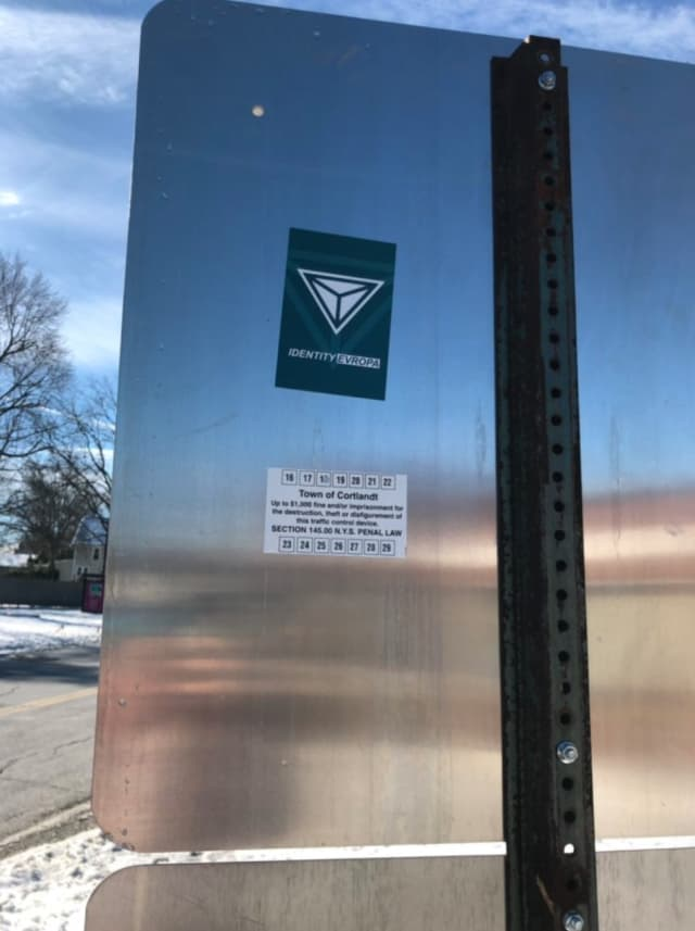 Identity Evropa stickers have been spotted in Northern Westchester.