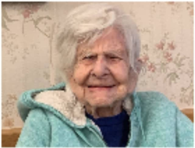 Josephine DeSilva, resident of Bethel Nursing Home and former Reader's Digest baker who recently celebrated her 104th birthday