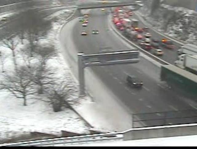 Delays on I-287 near Exit 7 at around 4 p.m. Tuesday, Feb. 12.