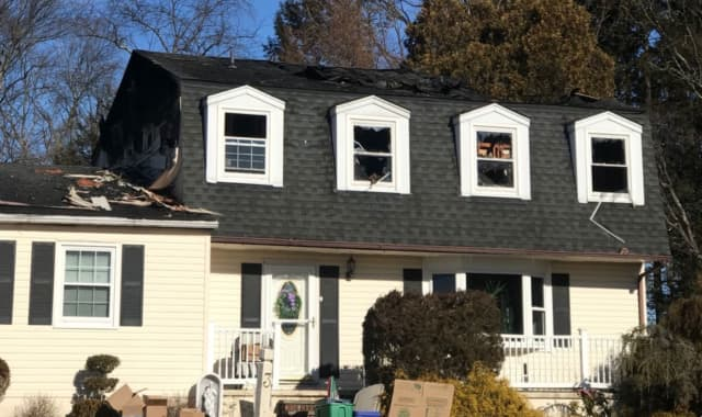 The house involved in the fire in Blauvelt.
