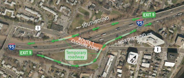 There will be lengthy delays this weekend as the Connecticut State Department of Transportation replaces the Route 1 bridge on I-95 in Stamford.