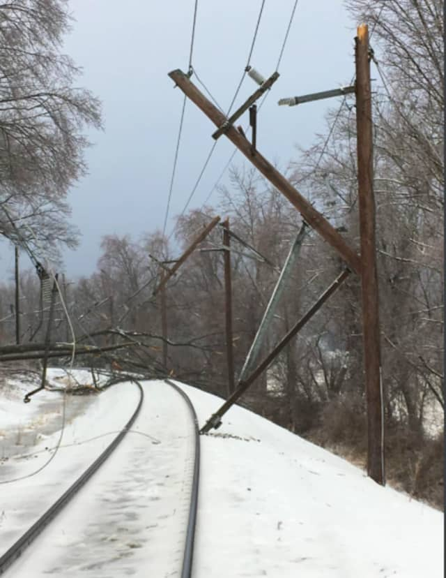 NJ Transit service halted on the Morris & Essex line.
