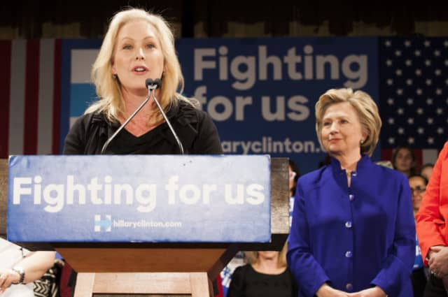 Presidential hopeful Kirsten Gillibrand and Westchester's Hillary Clinton in happier times.