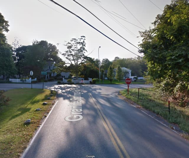 Granite Springs Road at the intersection of Quaker Church Road in Yorktown.