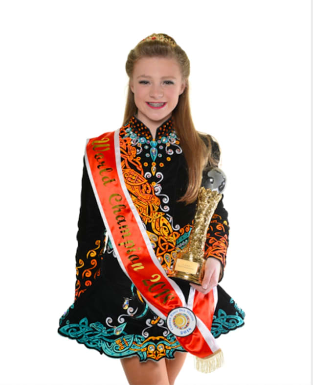 Erin Poppe, 13 of Franklin Lakes, was the first World Champion Irish Dancer to come out of The Jig Factory in Ridgewood (owned and operated by Susan Daly Stanek).