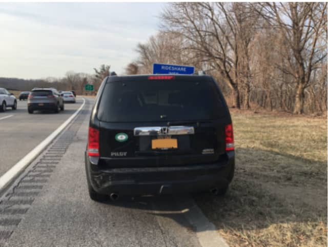 This black Honda Pilot was rear-ended on the Taconic State Parkway in Yorktown.