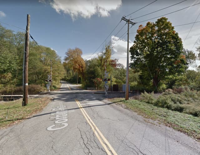 A car was hit by a train in Pawling.