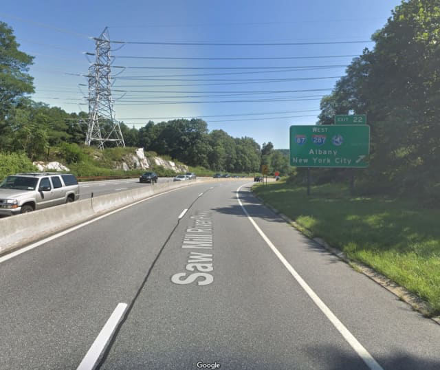 The Saw Mill River Parkway in Greenburgh.