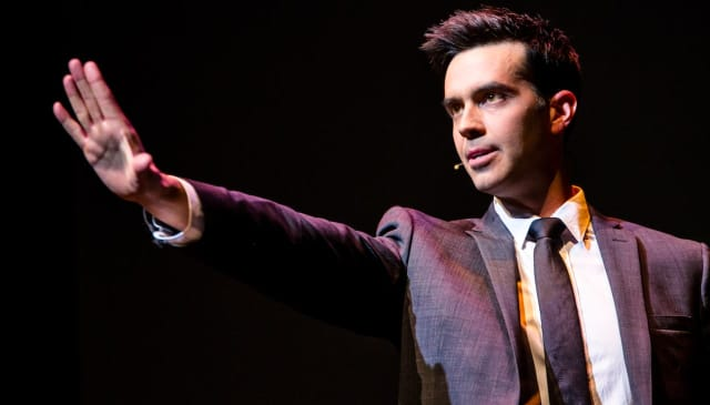 Michael Carbonaro has surprises up his sleeve for Montclair.