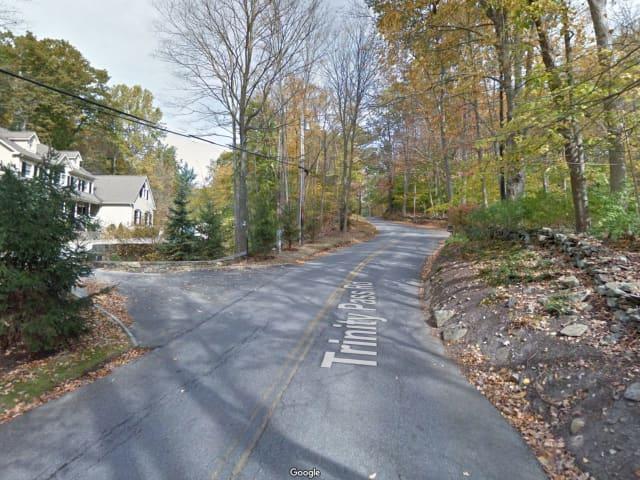 Trinity Pass Road in Pound Ridge.