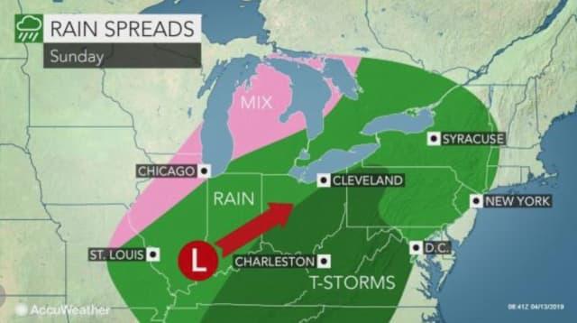 The next round of rain arrives Sunday, April 14.