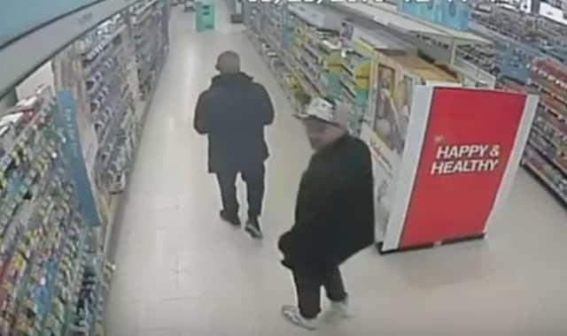 Two men suspected of stealing $500 in supplements from Walgreens (555 Larkfield Road) on Monday, March 25 around 12:35 p.m.