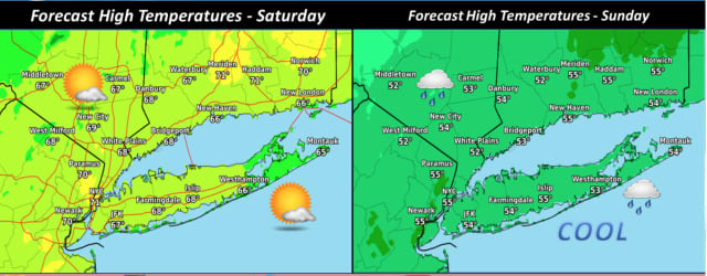 A look at the weather outlook for Saturday, May 11 and Sunday, May 12.