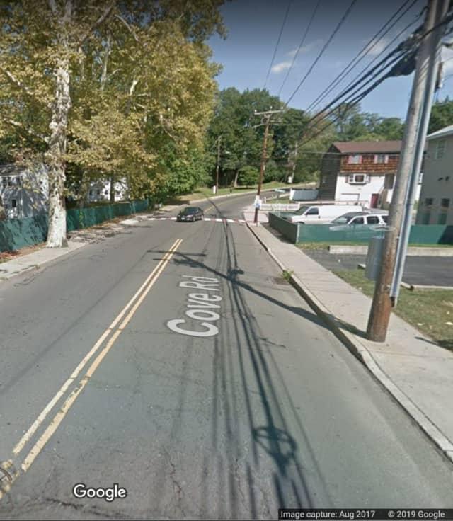 Cove Road near Van Buskirk Avenue in Stamford.