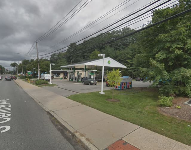 The BP gas station on South Central Avenue was robbed in Greenburgh on Tuesday morning.