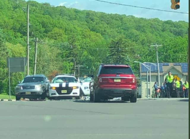 A Randolph police cruiser was involved in a crash Monday morning while responding to an emergency call.