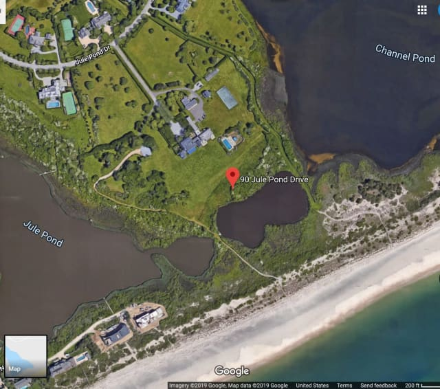 Jule Pond in Southampton for sale at $145 million sits on 42 acres of oceanfront property.