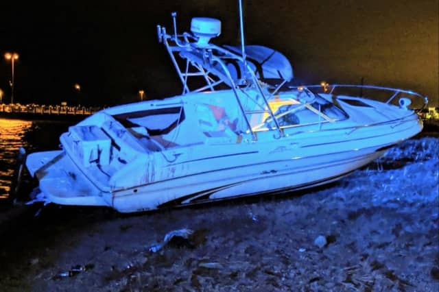 A man was charged with boating while intoxicated after he crashed his boat into a bulkhead in Bay Shore, Suffolk County Police said.