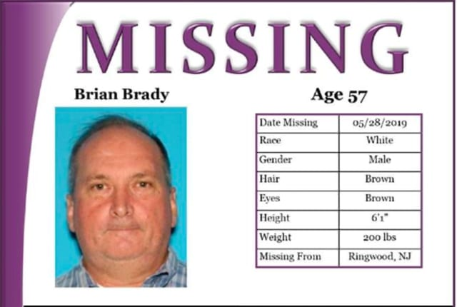 Authorities in Vermont were searching for Brian Brady.