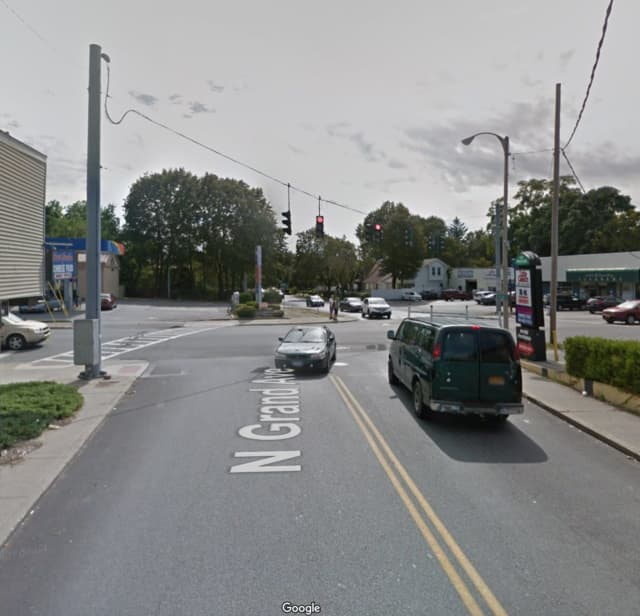 Grand Street at the intersection of Main Street in Poughkeepsie.