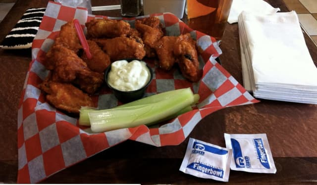 A plate of Buffalo wings from Buffalo's Anchor Bar, where it was invented in 1964.