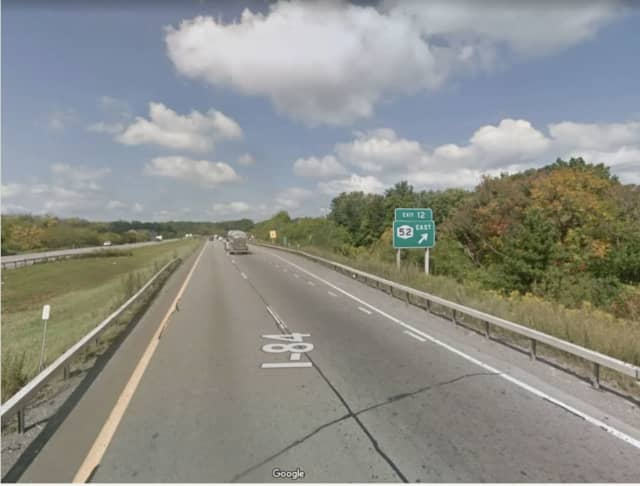A Connecticut man was airlifted to an area hospital following a crash on I-84 in East Fishkill.