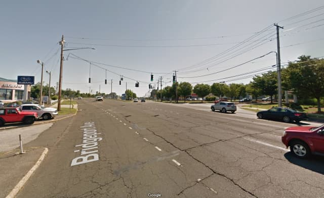 The intersection of Bridgeport Avenue and Boston Post Road in Milford.