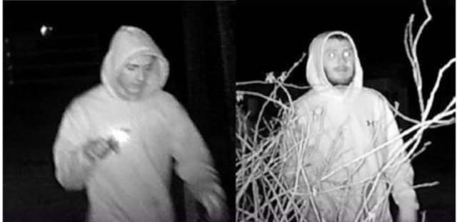Know them? Police are attempting to identify several men who allegedly vandalized the Smithbriar Nature Center.