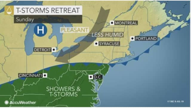 The latest round of storms that accompanied a cold front has brought a big change in the weather pattern.