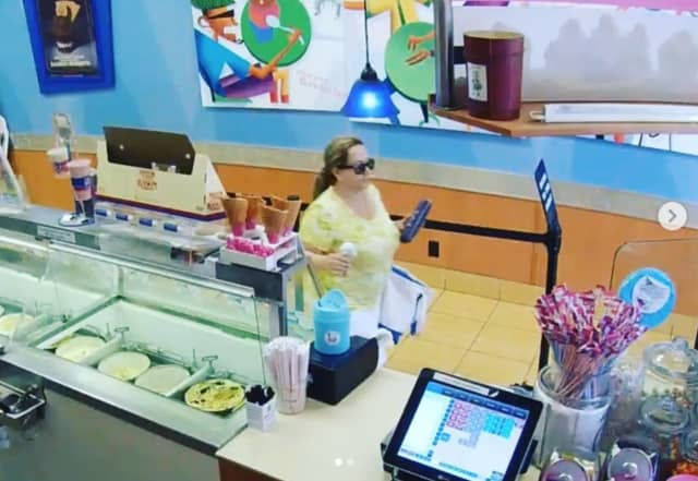 Social media helped police ID a woman who allegedly stole a purse from Baskin-Robbins in New Canaan.