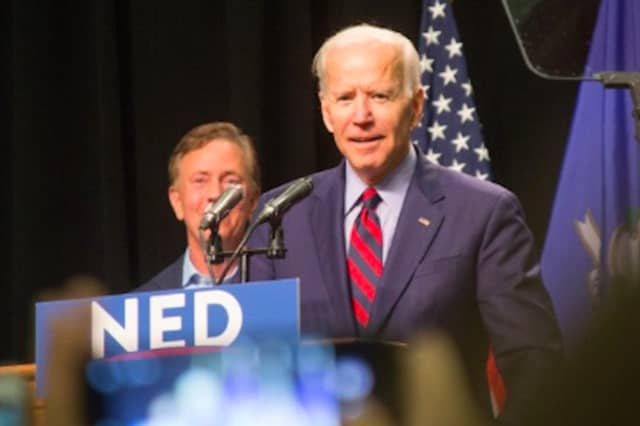 Gov. Ned Lamont posted this photo of him with fellow Democrat Joe Biden when the former vice president came to Connecticut to back Lamont's gubernatorial campaign.