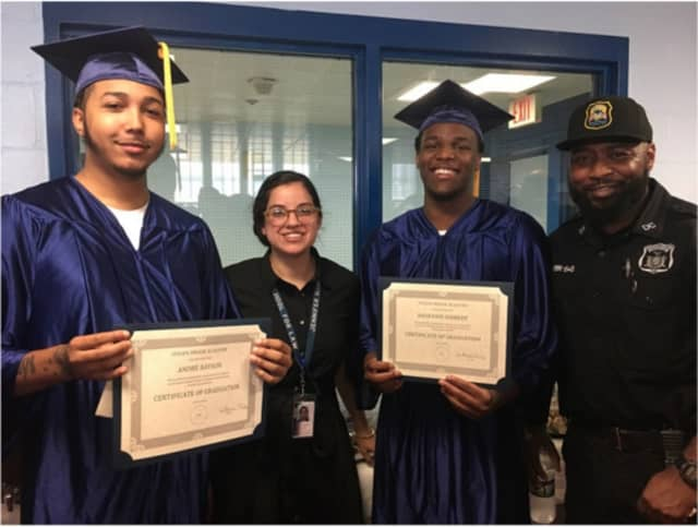 Ten students received their high school diplomas at a commencement ceremony held by the Westchester County Department of Corrections.
