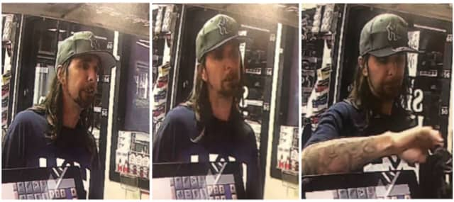 Man suspected of using a stolen credit card at Exxon Gas Station (3775 Express Drive North) on Saturday, June 22 around 3:40 a.m.