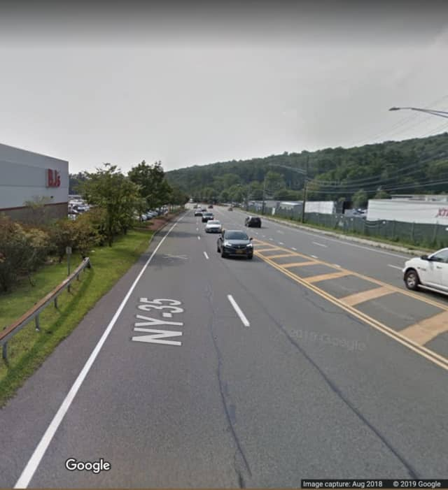 Route 202 (Crompond Road) near BJ's Wholesale Club.