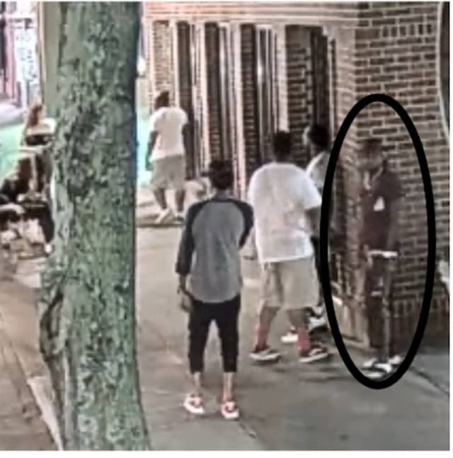 Suffolk County Crime Stoppers and Suffolk County Police Hate Crimes Unit detectives are seeking the public's help to identify and locate a man they say assaulted a woman after making lewd comments to a same-sex couple.