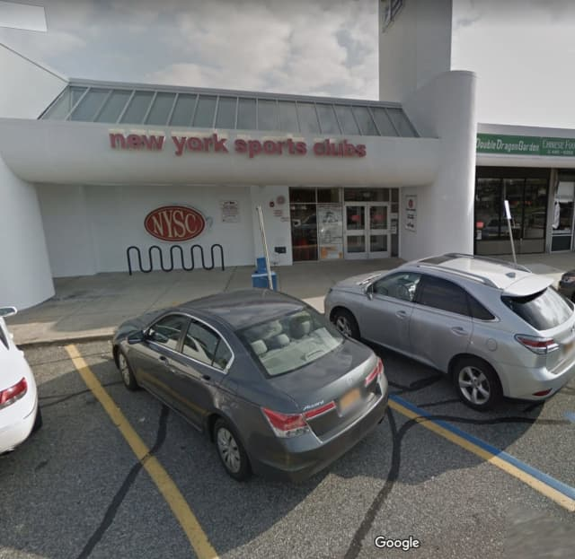 A car drove into the front of an area sports club.