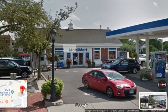 A Westchester man reportedly urinated in the convenience store at this New Canaan gas station, according to New Canaan Police.
